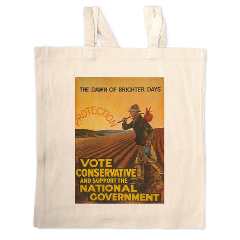 The dawn of brighter days Long Handled Tote Bag