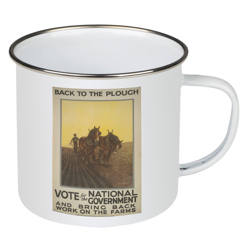 Back to the plough Enamel Mug