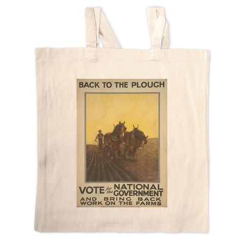 Back to the plough Long Handled Tote Bag