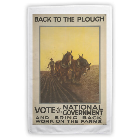 Back to the plough Tea Towel