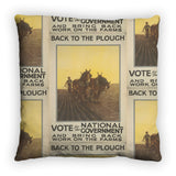Back to the plough Feather Cushion