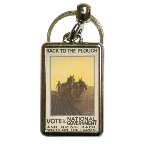 Back to the plough Metal Keyring