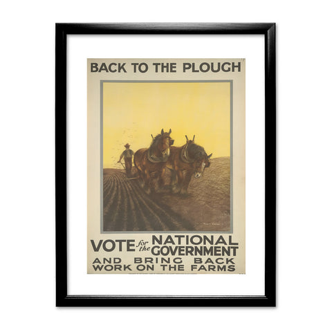 Back to the plough Black Framed Print
