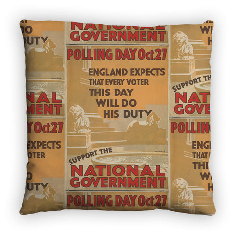 Polling day Oct.27 Feather Cushion