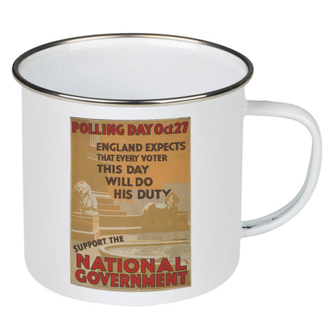 Polling day Oct.27 Enamel Mug