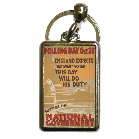 Polling day Oct.27 Metal Keyring