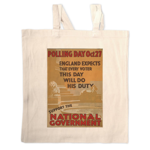Polling day Oct.27 Long Handled Tote Bag