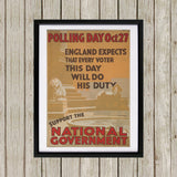Polling day Oct.27 Black Framed Print (Lifestyle)