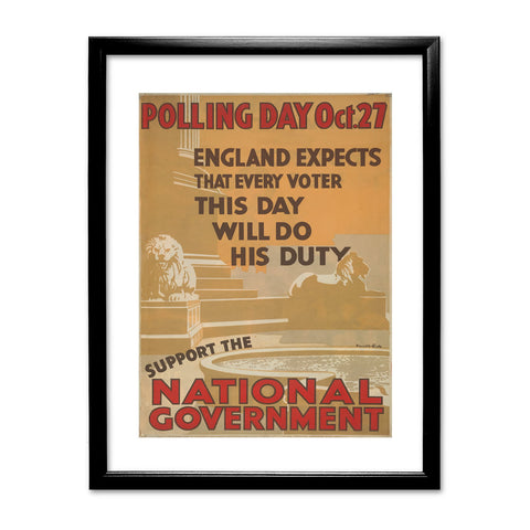 Polling day Oct.27 Black Framed Print