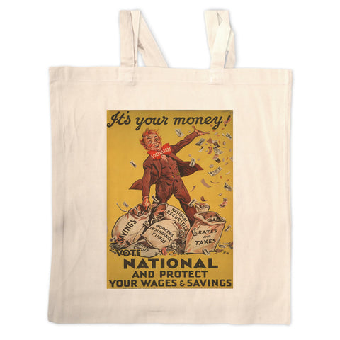 It's your money Long Handled Tote Bag