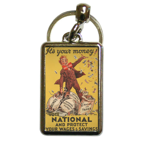 It's your money Metal Keyring
