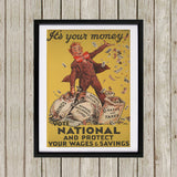 It's your money Black Framed Print (Lifestyle)