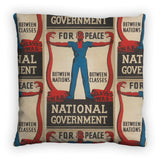 For peace between nations, between classes Feather Cushion