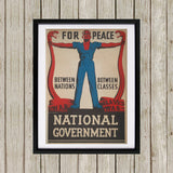 For peace between nations, between classes Black Framed Print (Lifestyle)