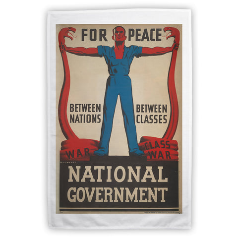 For peace between nations, between classes Tea Towel