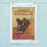 For security and better times on the land, vote National Tea Towel (Lifestyle)
