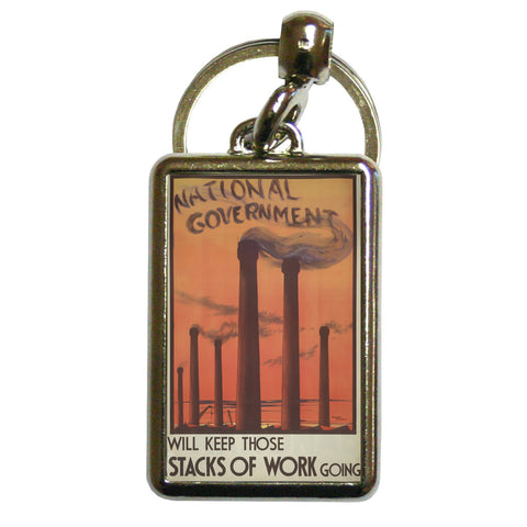 National government will keep those stacks of work going Metal Keyring