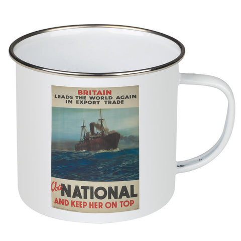 Britain leads the world again in export trade Enamel Mug