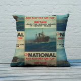 Britain leads the world again in export trade Feather Cushion (Lifestyle)