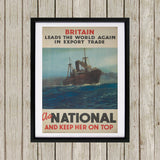 Britain leads the world again in export trade Black Framed Print (Lifestyle)