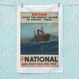 Britain leads the world again in export trade Tea Towel (Lifestyle)
