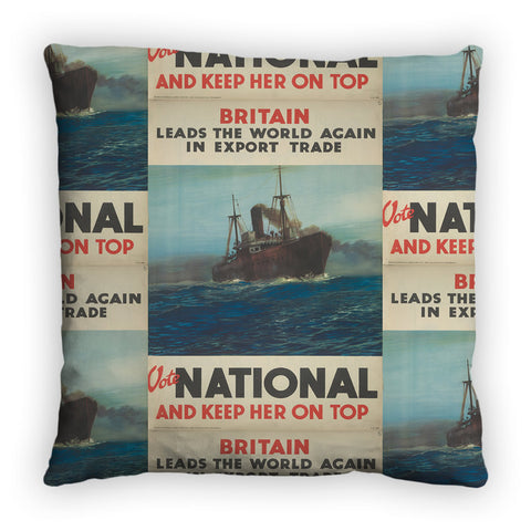 Britain leads the world again in export trade Feather Cushion