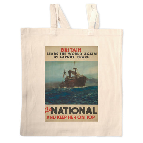 Britain leads the world again in export trade Long Handled Tote Bag