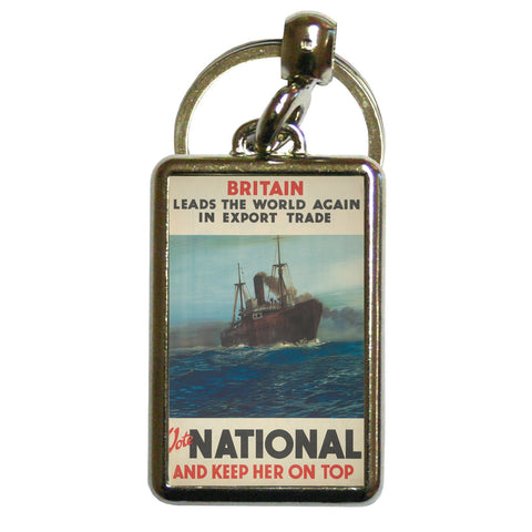 Britain leads the world again in export trade Metal Keyring