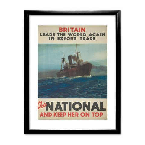 Britain leads the world again in export trade Black Framed Print