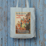 Join this march to prosperity and peace under National Government Long Handled Tote Bag (Lifestyle)