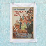 Join this march to prosperity and peace under National Government Tea Towel (Lifestyle)