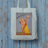 """Daddy's got a job!"" Long Handled Tote Bag (Lifestyle)"
