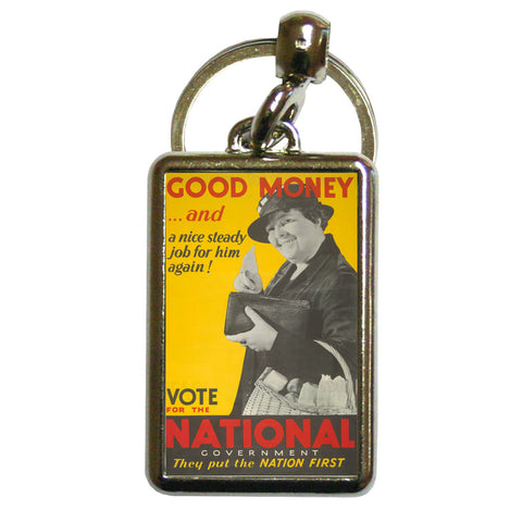 Good money... and a nice steady job for him again! Metal Keyring