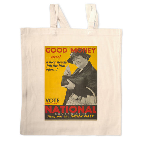 Good money... and a nice steady job for him again! Long Handled Tote Bag