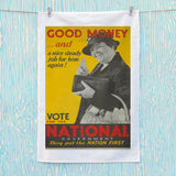 Good money... and a nice steady job for him again! Tea Towel (Lifestyle)