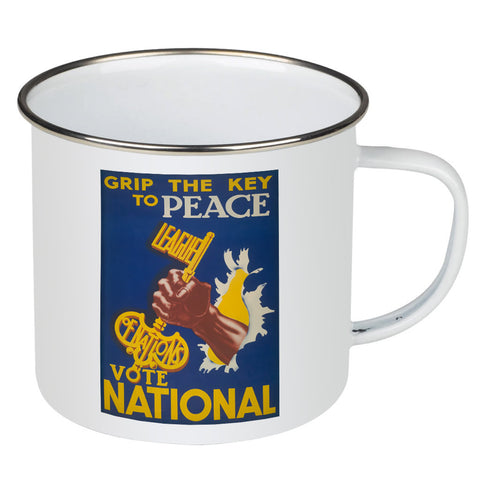 Grip the key to peace Enamel Mug