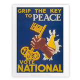 Grip the key to peace Art Print