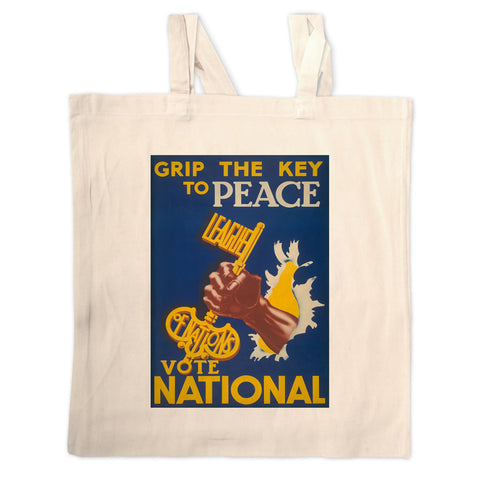 Grip the key to peace Long Handled Tote Bag