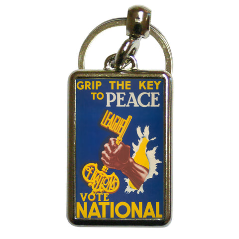 Grip the key to peace Metal Keyring