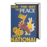Grip the key to peace Magnet