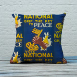 Grip the key to peace Feather Cushion (Lifestyle)