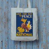 Grip the key to peace Long Handled Tote Bag (Lifestyle)