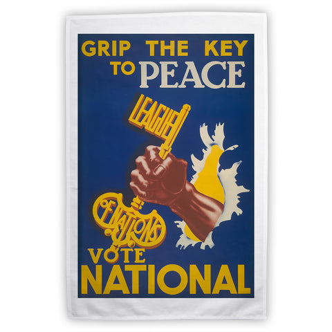 Grip the key to peace Tea Towel