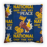 Grip the key to peace Feather Cushion
