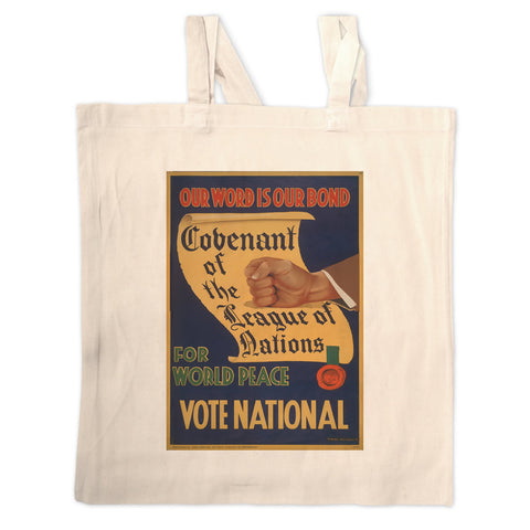 Our word is our bond Long Handled Tote Bag