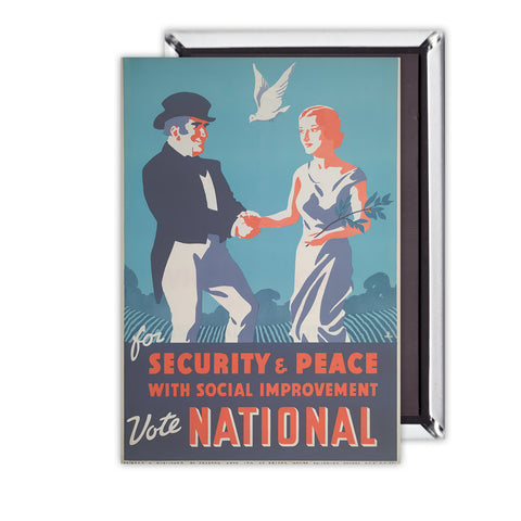 For security and peace with social improvement, Vote National Magnet