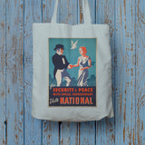 For security and peace with social improvement, Vote National Long Handled Tote Bag (Lifestyle)