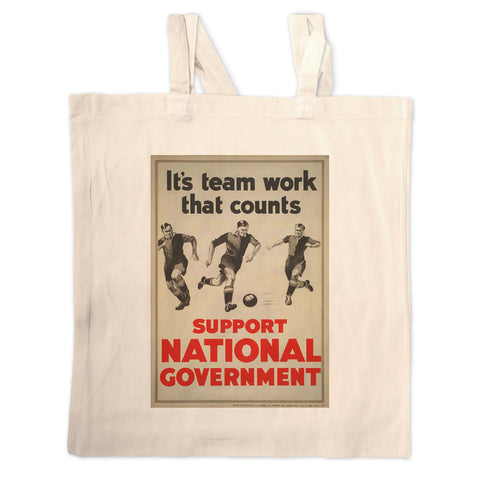 It's teamwork that counts Long Handled Tote Bag