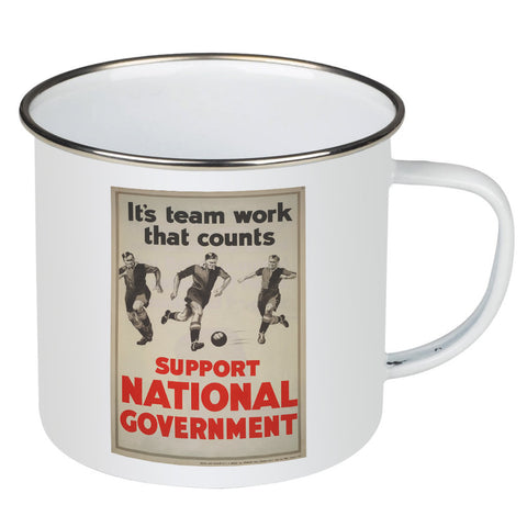 It's teamwork that counts Enamel Mug
