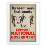 It's teamwork that counts Art Print